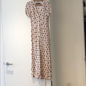 Reformation floral jumpsuit- new w tags